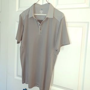 Men's Kuhl brand gray polo size large